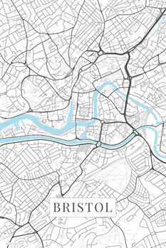 Map Bristol white