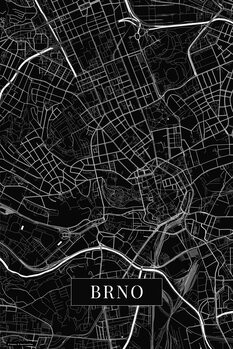 Map Brno black