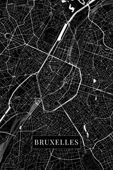 Map Bruxelles black