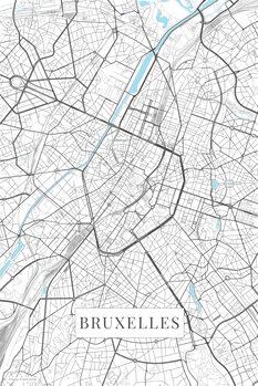 Map Bruxelles white