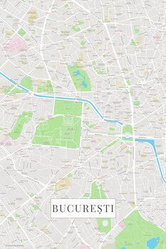 Map Bucuresti color