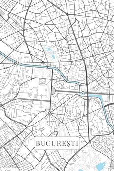 Map Bucuresti white