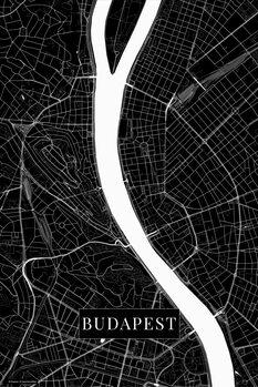 Map Budapest black