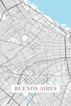 Kartta Buenos Aires white