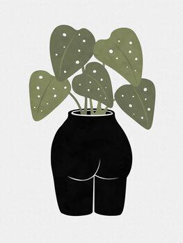 Illustration Butt-anical Vase