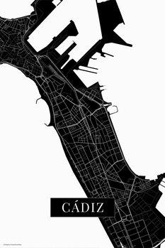 Map Cadiz black