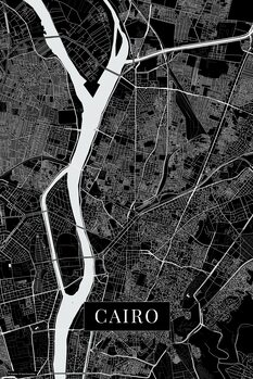 Map Cairo black