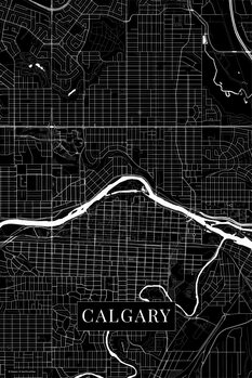 Map Calgary black