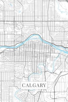 Map Calgary white