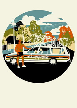 Fine Art Print Campagnolo Team Car, 2013