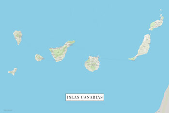 Map Canary Islands color