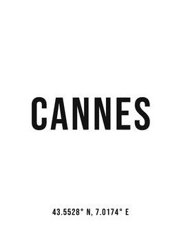 Kuva Cannes simple coordinates