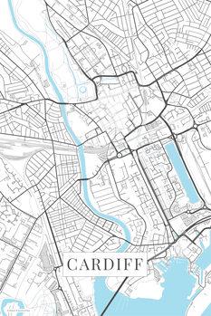 Map Cardiff white