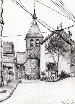 Fine Art Print Church in Laignes France, 2007,