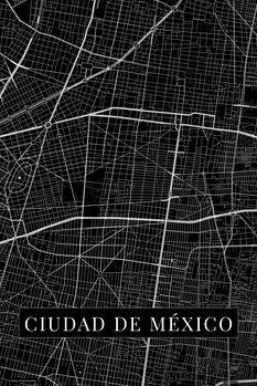Map Ciudad de México black