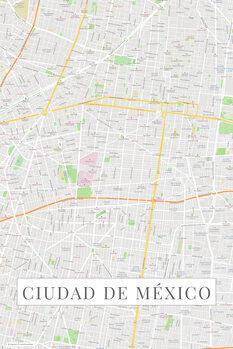 Map Ciudad de México color