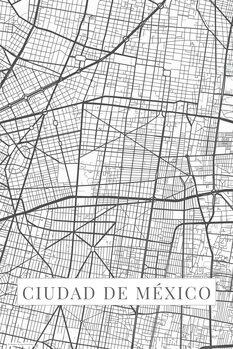 Map Ciudad de México white