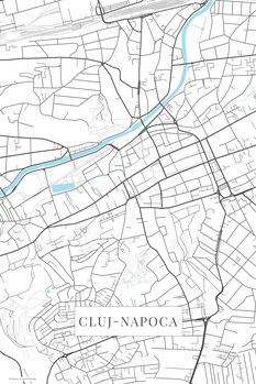 Map Cluj Napoca white