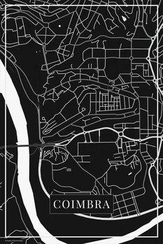 Map Coimbra black