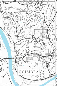 Map Coimbra white