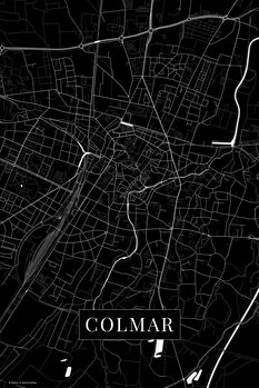 Map Colmar black