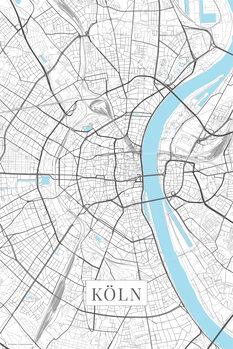 Map Cologne white