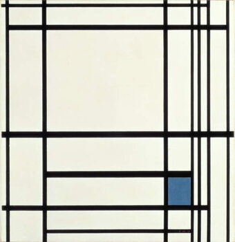 Fine Art Print Composition in Lines and Colour: III