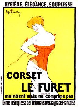 Fine Art Print Corset print ad by Leonetto Cappiello around 1901
