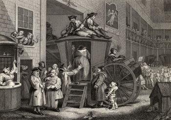 Reprodução do quadro Country Inn Yard, engraved by Timothy Engleheart