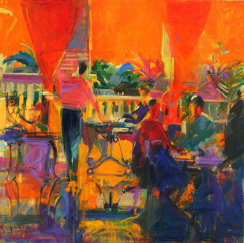 Fine Art Print Courtyard Cafe, Tunis