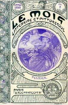 Fine Art Print Cover of the magazine (monthly magazine) Le Month litteraire et picturesque by Alphonse Mucha : month of February 1899 - Maison de la Bonne Presse -