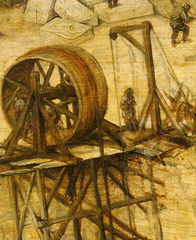 Taidejuliste Crane detail from Tower of Babel, 1563