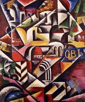 Fine Art Print Cubist cityscape, 1914