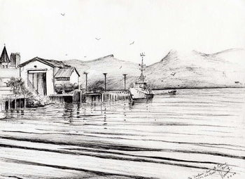 Fine Art Print Customs boat at Oban, 2007,