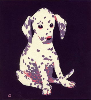 Fine Art Print Dalmation Puppy, 1950s