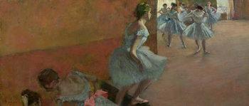 Reprodução do quadro Dancers Ascending a Staircase, c.1886-88