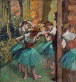 Fine Art Print Dancers in pink and green (Dancers, Pink and Green)