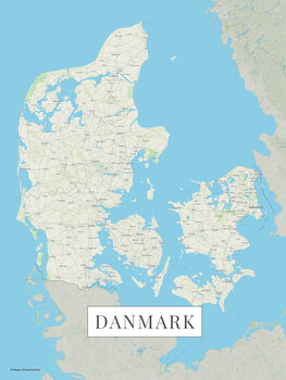 Map Danmark color