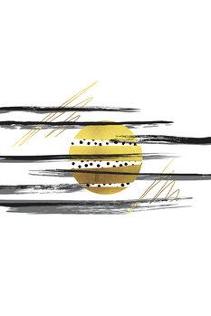 Illustration Deco Lines No. 3 – Full Moon