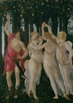 Fine Art Print Detail of the Three Graces and Mercury
