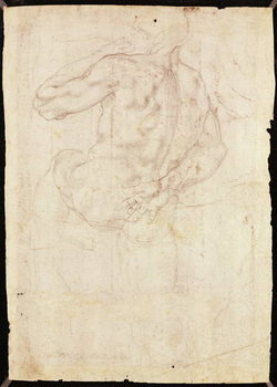 Fine Art Print Drawing of a male standing figure