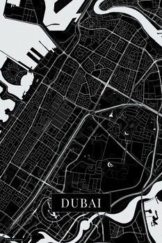 Map Dubai black