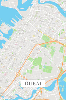 Map Dubai color