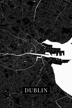 Map Dublin black