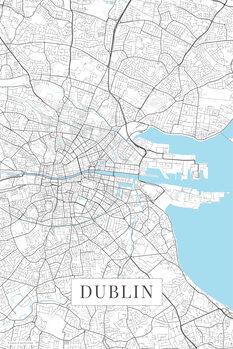 Map Dublin white