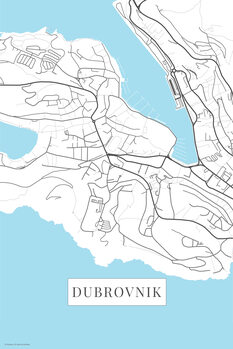 Map Dubrovnik white