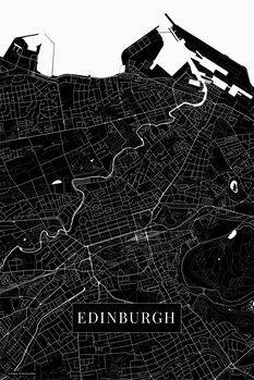 Map Edinburgh black