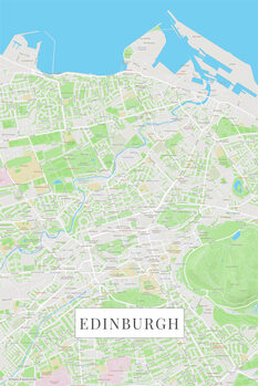 Map Edinburgh color