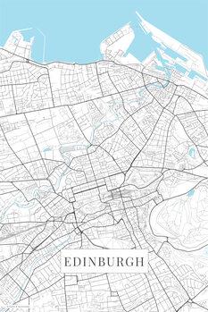 Map Edinburgh white