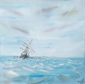 Fine Art Print Endurance trapped by Antarctic Ice, 2014,